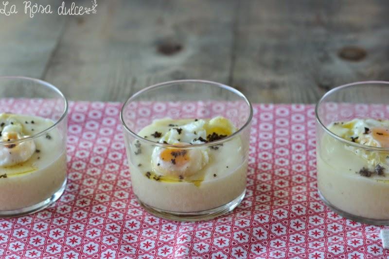 Patata con huevo y trufa negra