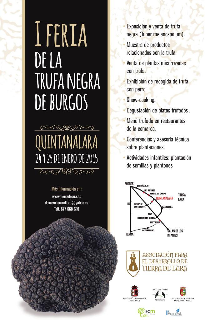 Primeria Feria de Trufa Negra de Burgos 2015.